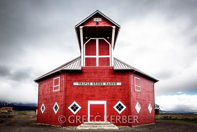 Triple Creek octagonal barn