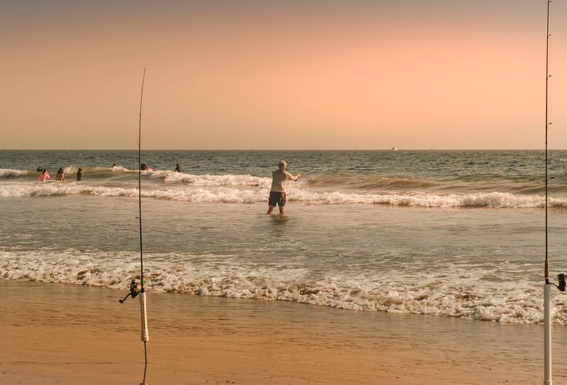 Casting on the Beach