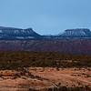 Snowy Bears Ears formation, Bears Ears National Monument, San Juan County, Utah