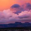 Bears Ears formation beneath sunset clouds, Bears Ears National Monument, San Juan County, Utah