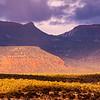 Bears Ears formation in shadow, Bears Ears National Monument, San Juan County, Utah