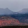 Bears Ears formation covered by fog, Bears Ears National Monument, San Juan County, Utah