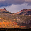 Sunset and snow on the Bears Ears formation, Bears Ears National Monument, San Juan County, Utah