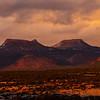 Sunset light on the Bears Ears formation, Bears Ears National Monument, San Juan County, Utah