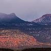 Foggy Bears Ears formation, Bears Ears National Monument, San Juan County, Utah