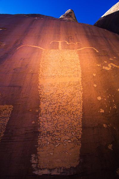 La Sal Basketmaker anthropomorphic petroglyph , Bears Ears National Monument and environs, San Juan County, Utah