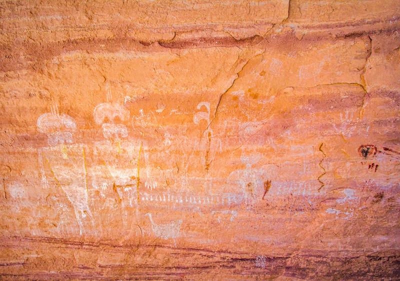 White Basketmaker pictographs, Bears Ears National Monument and environs, San Juan County, Utah