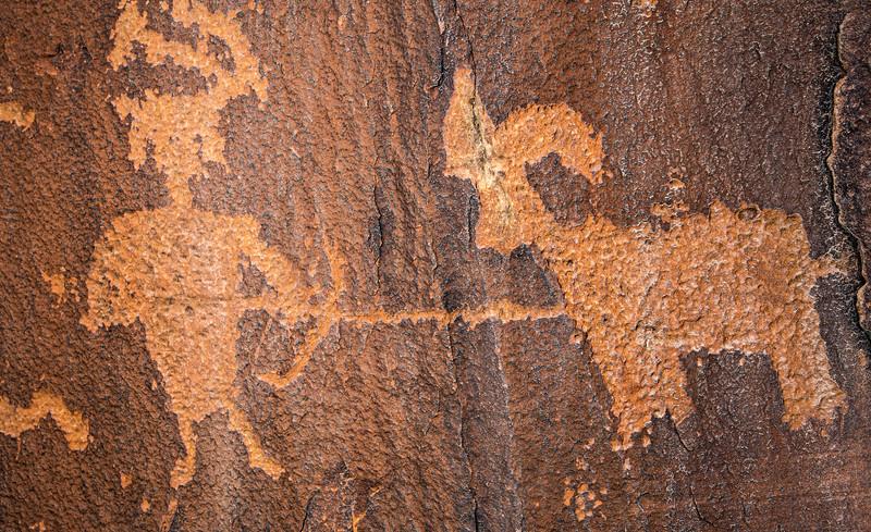 "La Sal Basketmaker ""hunting scene"", Bears Ears National Monument, San Juan County, Utah"