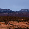 Snowy Bears Ears formation, Bears Ears National Monument, San Juan County, Utah