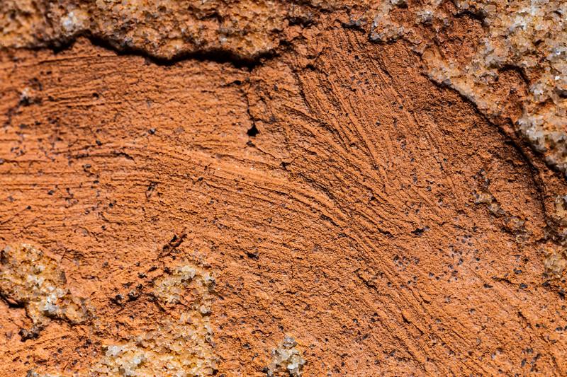Extreme macro of brush strokes and pigment, Ancestral Pueblo, Utah