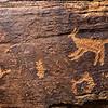 "La Sal Basketmaker ""hunting scene"" and coyote, Bears Ears National Monument, San Juan County, Utah"