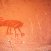 Bighorn sheep and anthropomorphs, Basketmaker pictographs, Chinle Representational Style, Bears Ears National Monument and environs, San Juan County, Utah