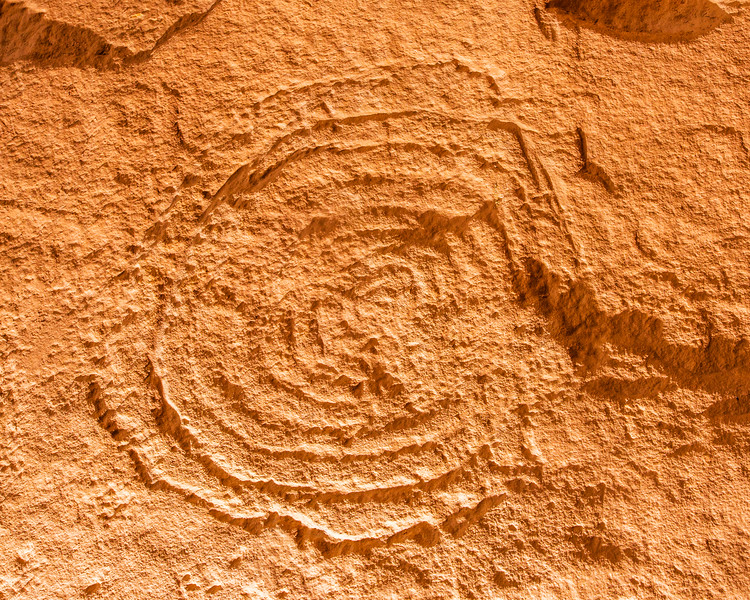 Ancestral Puebloan spiral petroglyph, Bears Ears National Monument and environs, San Juan County, Utah
