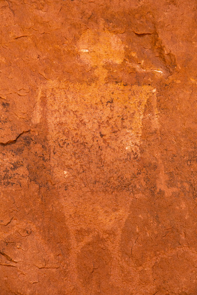 San Juan Anthropomorphic Style Basketmaker petroglyph, Kachina Bridge, Natural Bridges National Monument, San Juan County, Arizona