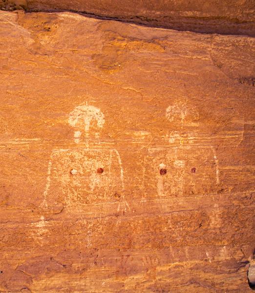 Basketmaker anthropomorph pictographs, Bears Ears National Monument and environs, San Juan County, Utah