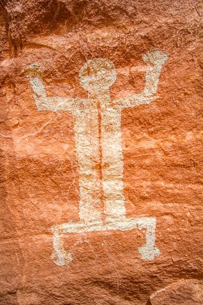 Ancestral Puebloan pictographs, Bears Ears National Monument and environs, San Juan County, Utah