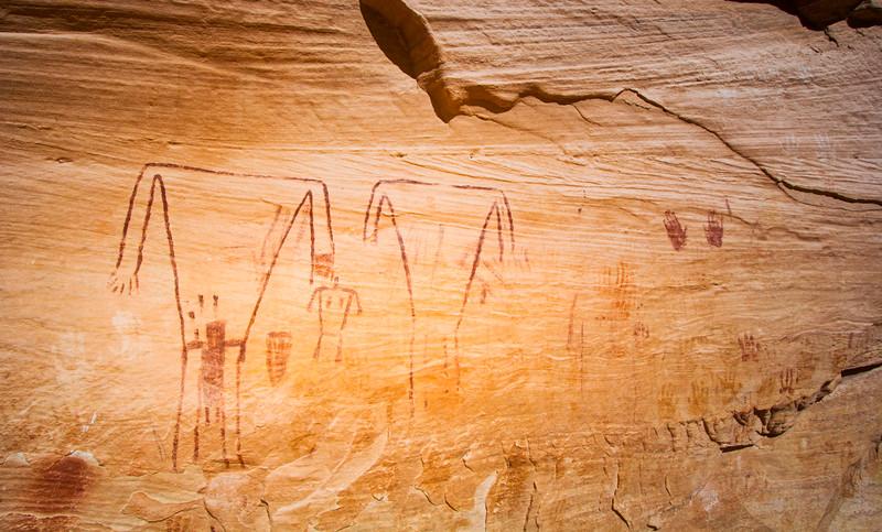 Basketmaker pictographs, Bears Ears National Monument and environs, San Juan County, Utah