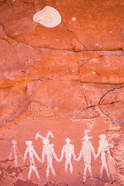 Basketmaker pictographs, Chinle Representational Style , Bears Ears National Monument and environs, San Juan County, Utah