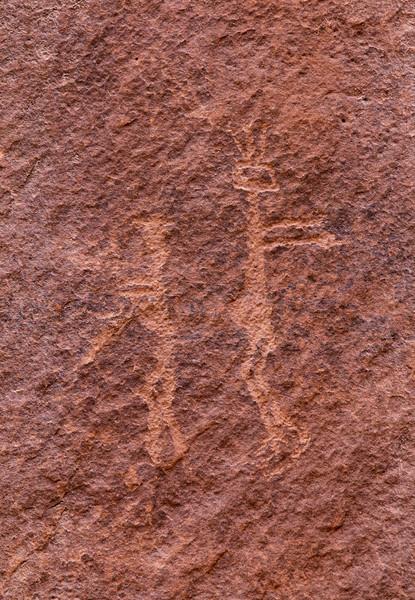 Basketmaker petroglyphs, Kachina Bridge, Natural Bridges National Monument, San Juan County, Arizona