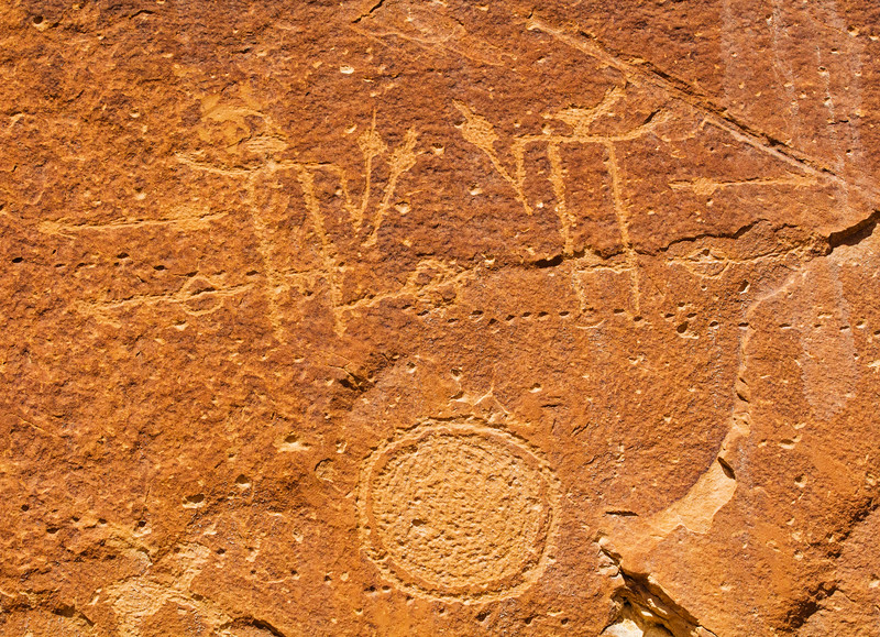 San Juan Anthropomorphic Style Basketmaker petroglyphs, Bears Ears National Monument and environs, San Juan County, Utah