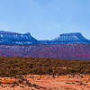 Snow-capped Bears Ears formation, Bears Ears National Monument, San Juan County, Utah