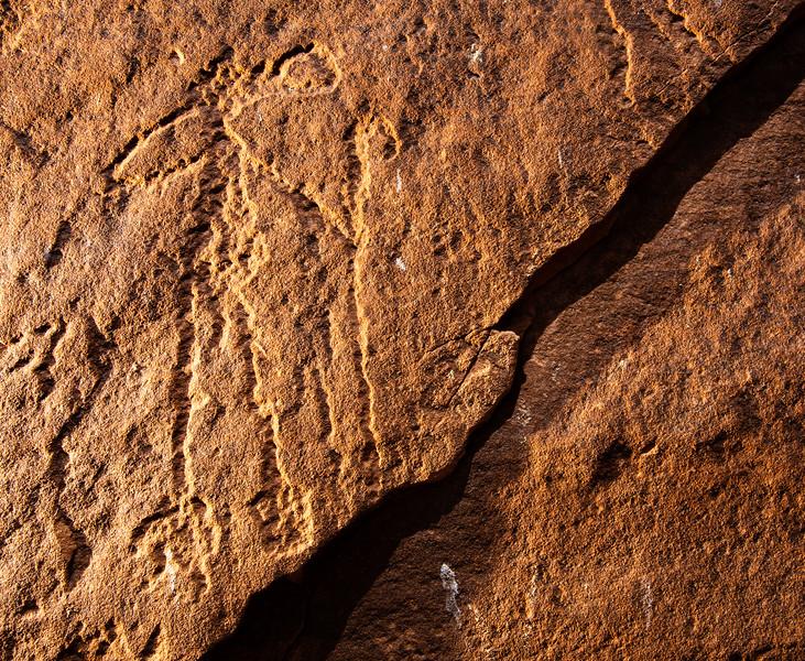 Basketmaker petroglyphs , Bears Ears National Monument and environs, San Juan County, Utah
