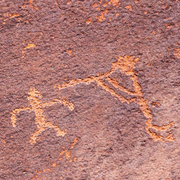 Basketmaker flute player petroglyph, Bears Ears National Monument and environs, San Juan County,  Utah