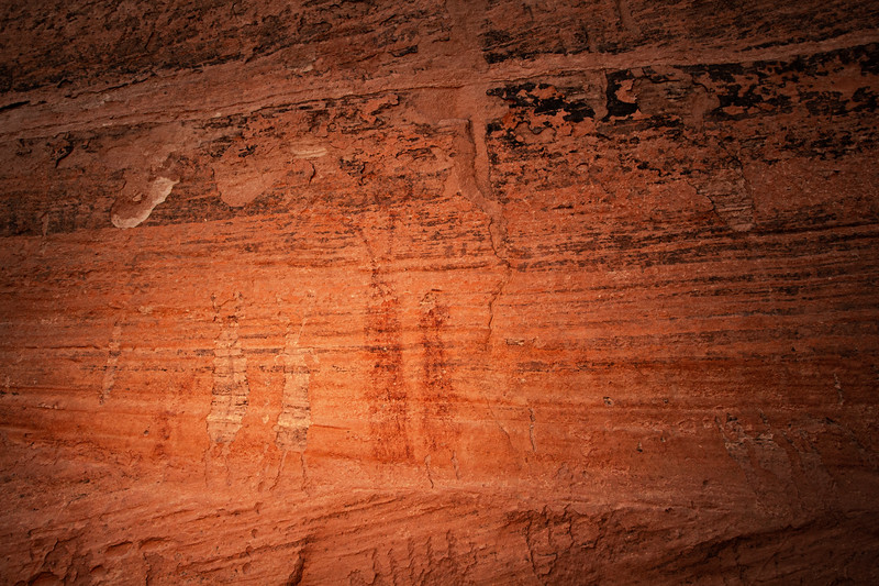 Glen Canyon Linear Style pictographs and petroglyphs, Archaic period , Bears Ears National Monument and environs, San Juan County, Utah