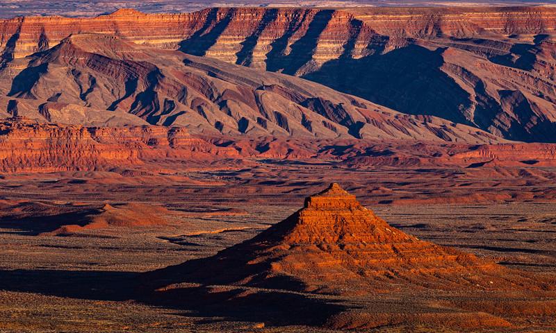 Raplee Ridge sunset, Bears Ears National Monument, San Juan County, Utah