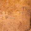 Ancestral Puebloan anthropomorph petroglyphs and Ute charcoal pictographs, Bears Ears National Monument and environs, San Juan County, Utah