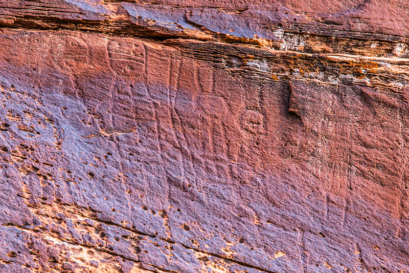 Glen Canyon Linear Style petroglyphs, Archaic period, Bears Ears National Monument and environs, San Juan County, Utah