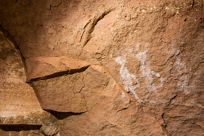 Ancestral Puebloan white pictographs, Bears Ears National Monument and environs, San Juan County, Utah