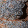 Ancestral Pueblo corrugated ware extreme macro, Bears Ears National Monument, San Juan County, Utah