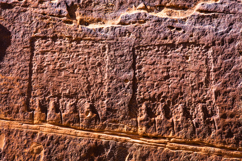 Bear prints, Basketmaker petroglyphs, Bears Ears National Monument and environs, San Juan County, Utah