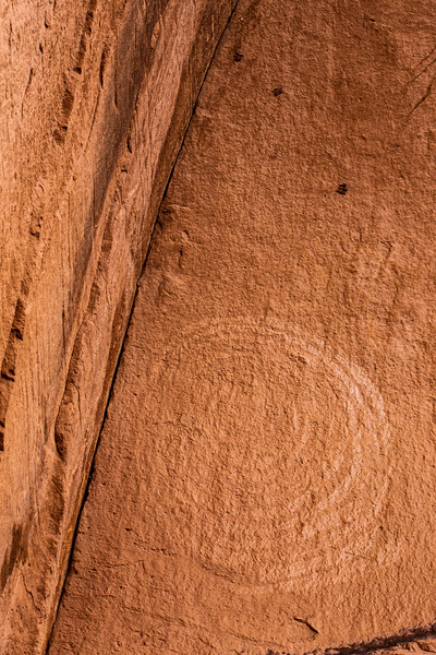 Ancestral Pueblo pictograph spiral, Bears Ears National Monument, San Juan County, Utah