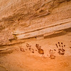 Ancestral Puebloan painted handprints, Bears Ears National Monument and environs, San Juan County,  Utah
