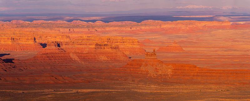 Valley of the Gods sunset, Bears Ears National Monument, San Juan County, Utah