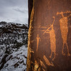La Sal Basketmaker flute player petroglyphs, Bears Ears National Monument, San Juan County, Utah
