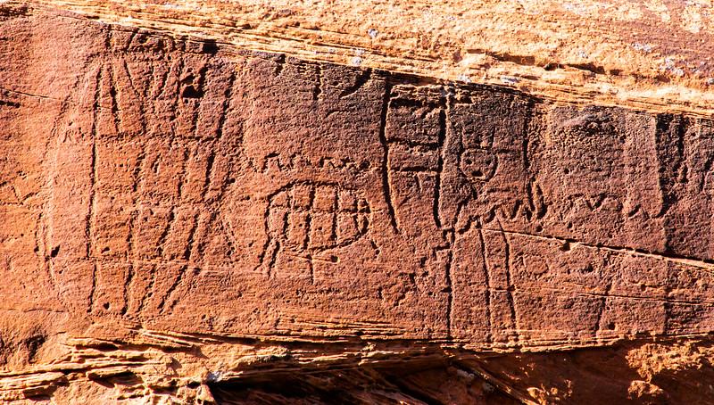 Glen Canyon Linear Style petroglyphs, Archaic period, Bears Ears National Monument and environs, San Juan County, Utah