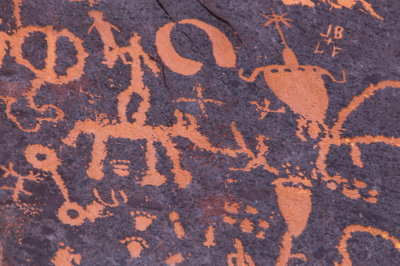 Newspaper Rock archaeology site, Ute petroglyphs, Indian Canyon, Bears Ears National Monument, San Juan County, Utah