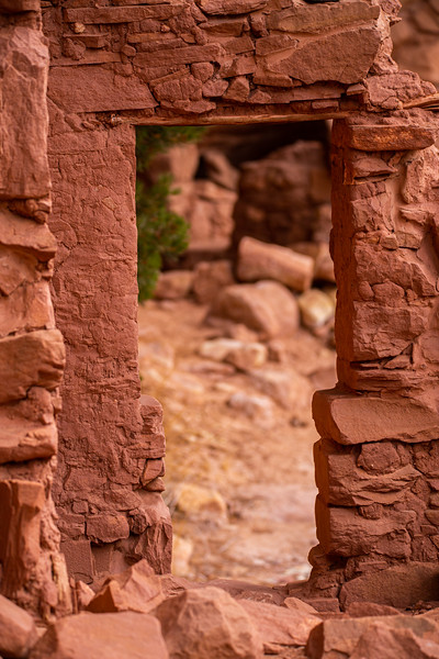 T-door structure, Ancestral Pueblo, Bears Ears National Monument, San Juan County, Utah