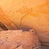 Ancestral Pueblo structure and handprint pictographs , Bears Ears National Monument and environs, San Juan County, Utah