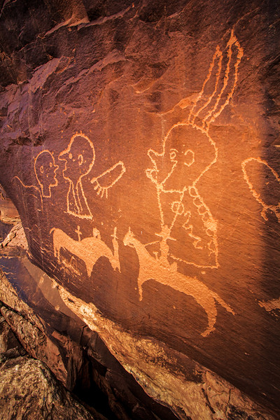 Ute Representative Style petroglyphs , Bears Ears National Monument and environs, San Juan County, Utah