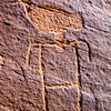 San Juan Anthropomorphic Style Basketmaker petroglyph , Bears Ears National Monument and environs, San Juan County, Utah