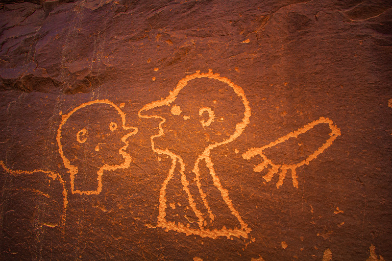 Ute Representative Style petroglyphs, Bears Ears National Monument and environs, San Juan County, Utah