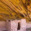 Ancestral Puebloan structure in sooted alcove, Bears Ears National Monument and environs, San Juan County, Utah
