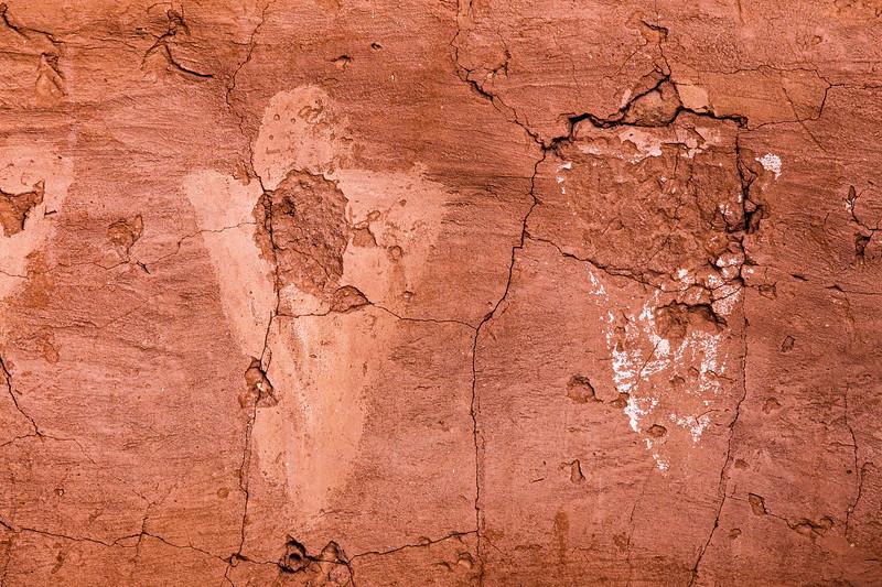 Anthropomorphs on White Dog Basketmaker structure, Kachina Bridge, Natural Bridges National Monument, San Juan County, Arizona