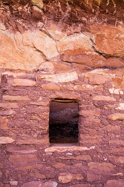 Ancestral Puebloan structure entrance, Bears Ears National Monument and environs, San Juan County, Utah