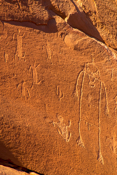 Basketmaker petroglyphs , Bears Ears National Monument and environs, San Juan County, Utah