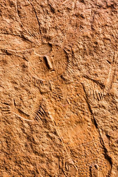 Navajo anthropomorphic petroglyph , Bears Ears National Monument and environs, San Juan County, Utah